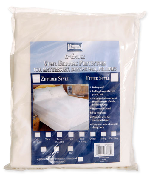 Full / Double Zippered Six Gauge Vinyl Bedding Protector